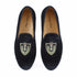 New Handmade Men Black Prom Wedding Loafers Shoes