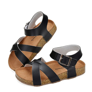 Girls Sandals Shoes For Children Gladiator Glitter PU leather  Beach School Shoes