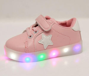 Children Shoes With Light fashion Baby Boys Girls LED Light Up sneakers