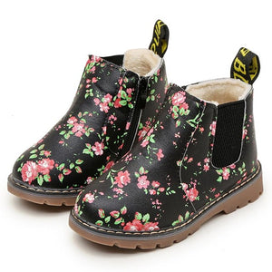 2018 children's shoes girls boots flower non-slip