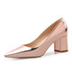 High Heels Shoes Women Pumps Patent leather Spring Single Woman Dress Shoes