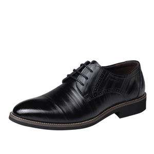 Luxury brand PU Leather Fashion Men Business Dress Classical Style