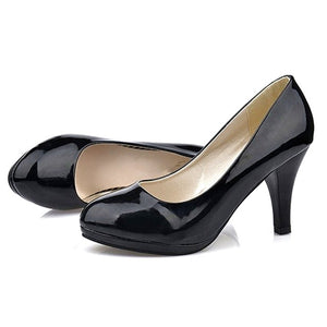 Large size 34 -42 Super High Women Shoes Pointed Toe Pumps Dress High Heels Wedding Shoes