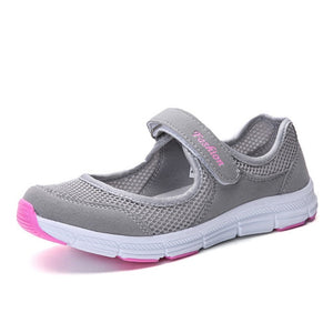 NANCY TINO Women Breathable Athletic Shoe Quick-drying Non-slip Soft Sole Flat Sneakers