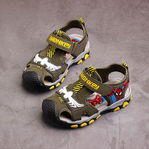 Summer boys sandals,Children beach shoes,Kids spiderman shoes for boy