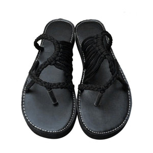 New Summer Shoes Flat Women Ladies Sexy Open Tie