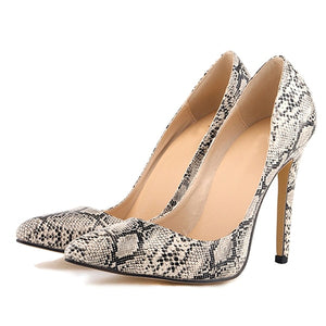 Women Pumps Leopard Shoes High Heels Sexy Pointed Toes Wedding Shoes
