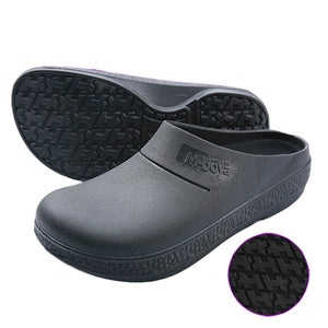 Black Non-slip Kitchen Work Shoes for Chef Restaurant Kitchen Hotel Catering Slippers