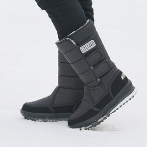 2018 Men Boots platform snow boots for men thick plush waterproof