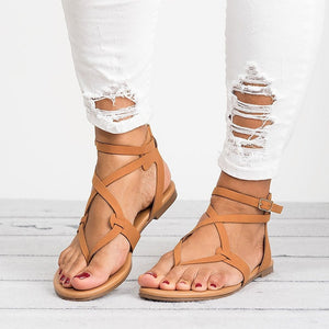 Summer 2018 Roma Flat Shoes Woman Sandals Gladiator Beach Women Shoes