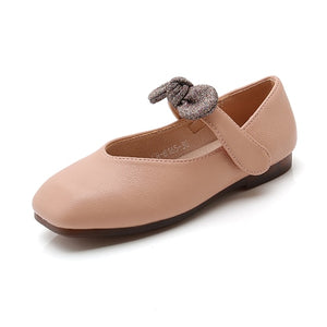 Girls Casual Shoes Fashion Ceremony Party Bow-knot Princess Shoes Hook & Loop