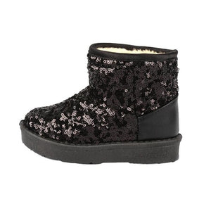 Kids Winter Snow Boots 2018 Fashion Sequins Thick
