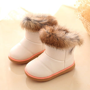 Cotton Winter Baby Boys Girls Child Leather Shoes Martin Boot