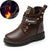 Genuine leather Martin Boots for boy Rubber Anti slip Snow Boots Fashion Zipper