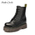 Smile Circle Motorcycle Boots Women Ankle Boots Autumn 2018 Fashion Lace-up