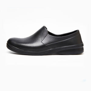 Hotel Restaurant Kithcen Work Shoes for Men's Soft Non-slip Black Waterproof Shoes