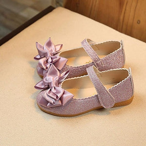 Kids Girls Bowknot Nubuck Leather shoes Single Shoes Dance shoes Dress Girl