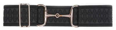 ELLANY BELTS - BLACK DIAMOND 2'' ROSE GOLD SNAFFLE