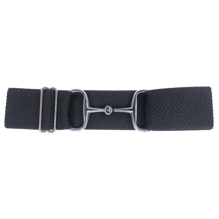ELLANY BELTS - BLACK ARROWS 2'' SILVER SNAFFLE
