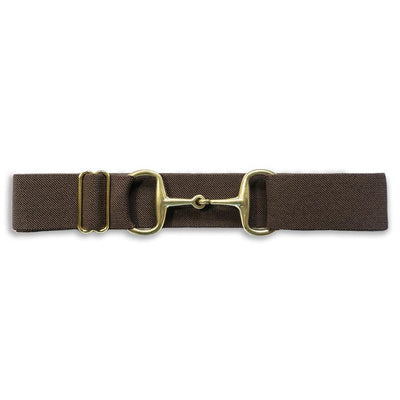 ELLANY BELTS -BROWN 1.5''  GOLD SNAFFLE