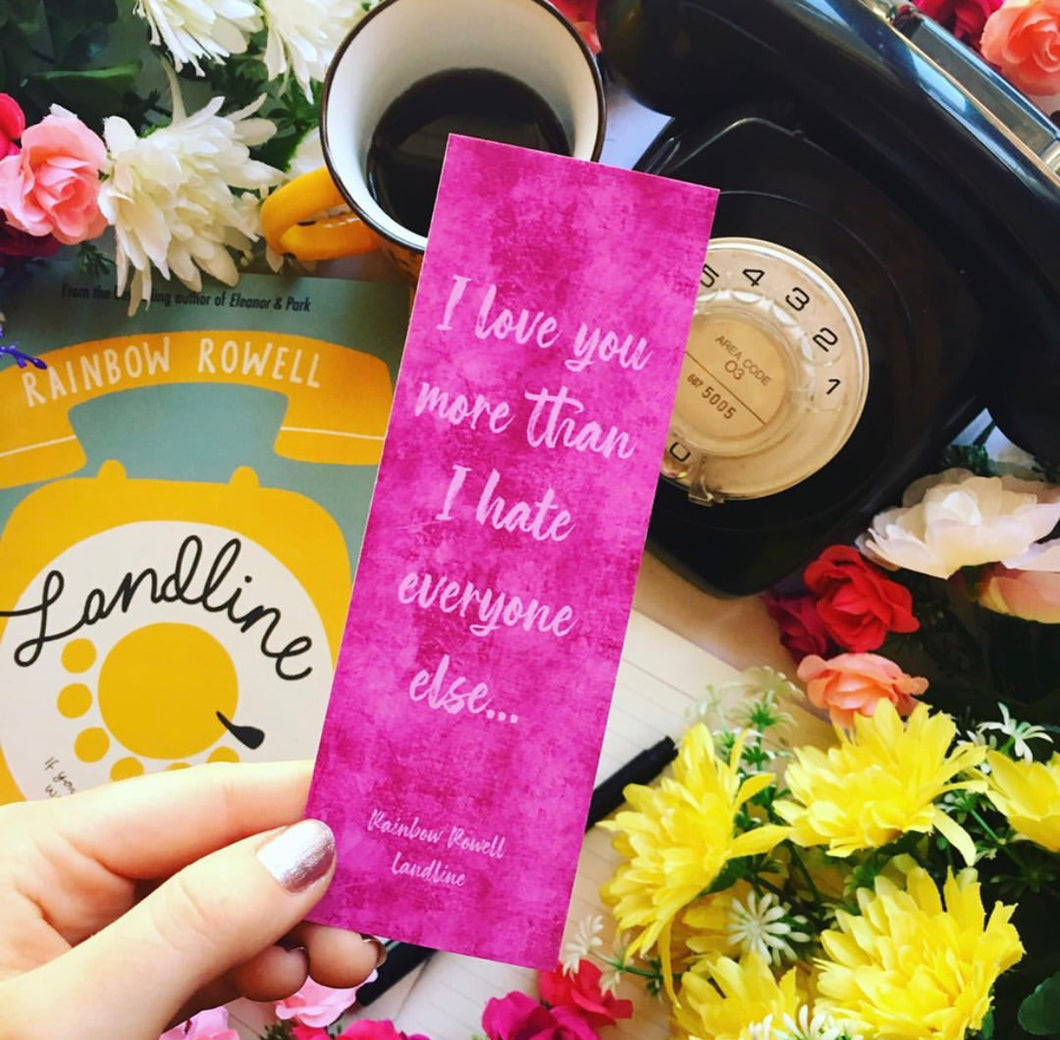I Love You More ... Bookmark