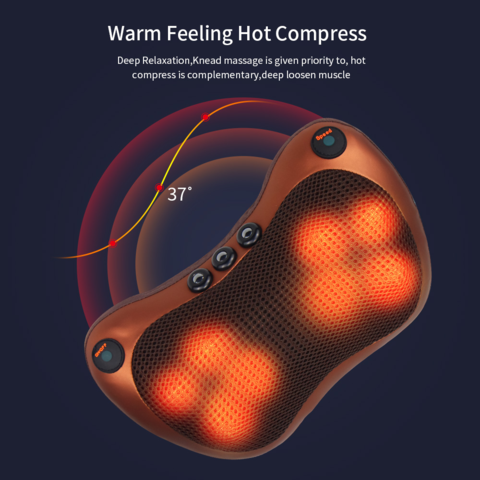 Heated Electric Massage Pillow