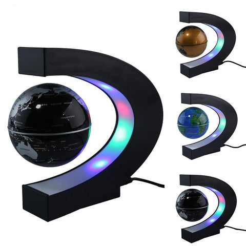 Magnetic Levitation Light World Map With LED Tellurion