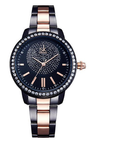 Women Rose Gold Quartz Watch