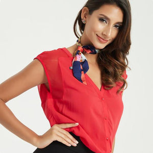 Women  Fashion Bodycon Leisure Chiffon Blouse Tops