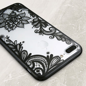 3D Lace Flower Patterned Cases For iPhones