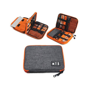 Double Layer Electronic Accessories Travel Bag