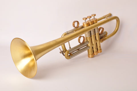 Trumpet Bach Stradivarius Model 239 IN C. CML. Raw Brass. Customized by KGUBrass