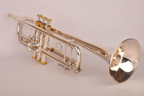 Trumpet Bach Stradivarius 37 Silver Goldplate Caps and Buttons