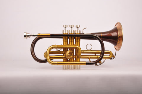 Cornet Yamaha YCR 4330G Customized and restyled by KGUBrass