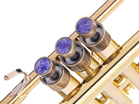 Special for Scott Trumpet MEDIUM Trim kit. KGUBrass  Antique Bronze / Charoite   Trumpet: Adams(Prologue)