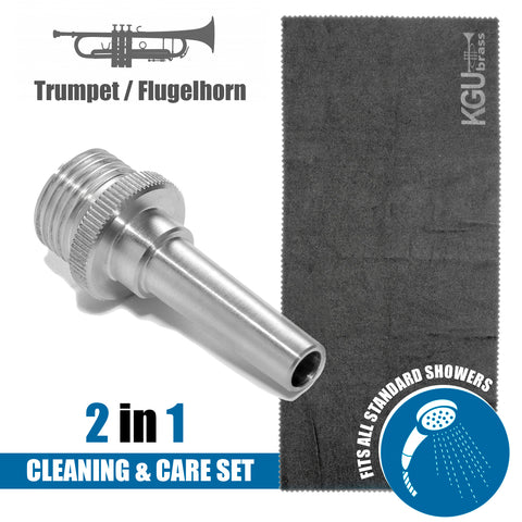 2 in 1. KGUBrass Cleaning AQUA Nozzle. Aluminum. for Brass instruments + GIFT