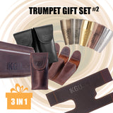 Trumpet gift set 3 in 1. Booster + Pouch + Valve Guard