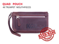 Trumpet Mouthpiece QUAD Pouch. Crazy Horse Leather. KGUBrass