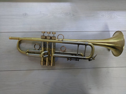 Trumpet Bach Stradivarius 38 M Raw Brass Vintage Customized by KGUBrass