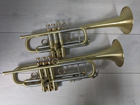 TWO TRUMPET BACH STRADIVARIUS  Model 37 inB  and Model 239 inC