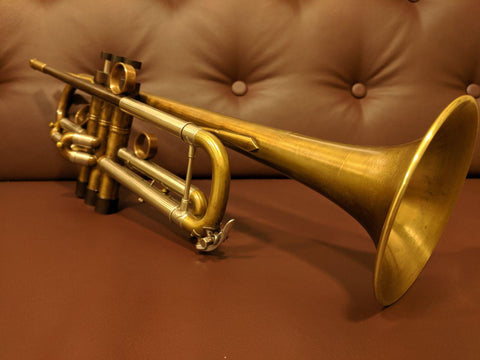 Trumpet Vincent Bach ML Raw Brass Customized by KGUBrass