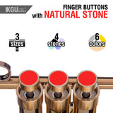 trumpet finger buttons with natural stone