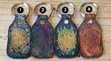 Load image into Gallery viewer, Huichol Leather Keychain