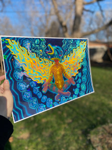 Kachina Phoenix - Holographic Print LIMITED EDITION