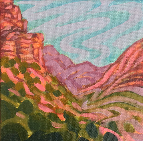 Canyon Walls 4x4 Painting