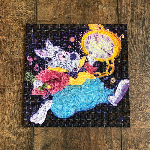 White Rabbit Blotter Art - Limited Edition