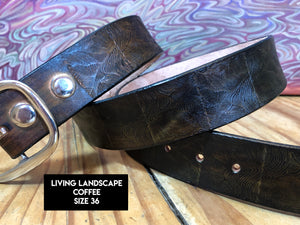 Stamped Leather Belt (Size 36)