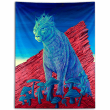 Load image into Gallery viewer, Mushroom Lioness - Third Eye Tapestry