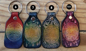 Mr Melty Orgone Leather Keychain