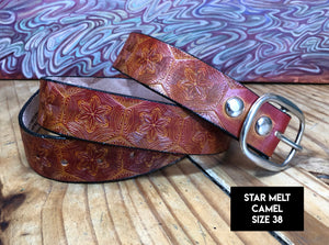 Stamped Leather Belt (Size 38)